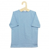 Tieasy AUTHENTIC CLASSIC (ティージー) - HDCS Boatneck S/S Basque Shirt (半袖バスクシャツ) (Powder Blue)