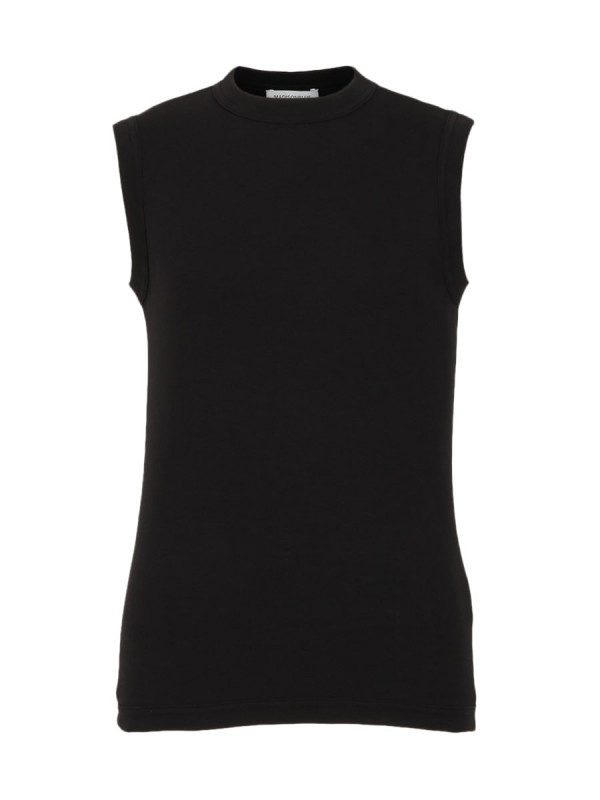 CREW NECK SLEEVELESS TEE