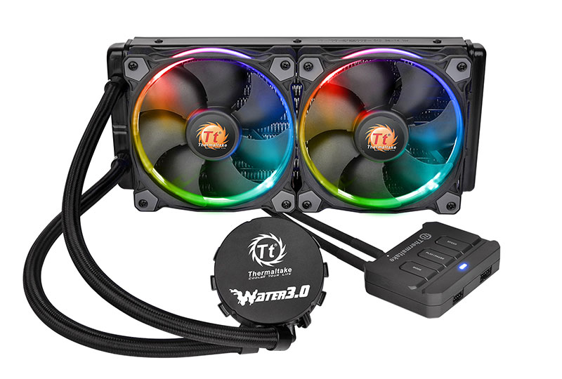 Thermaltake Water 3.0 Riing Edition 280mmラジエーター 水冷一体型CPUクーラー|CL-W138-PL14SW-A
