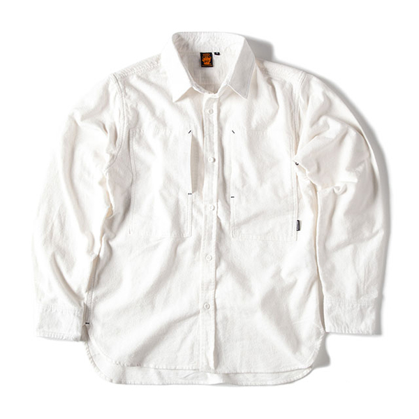 Grip Swany グリップスワニー Flannel Camp Shirt White