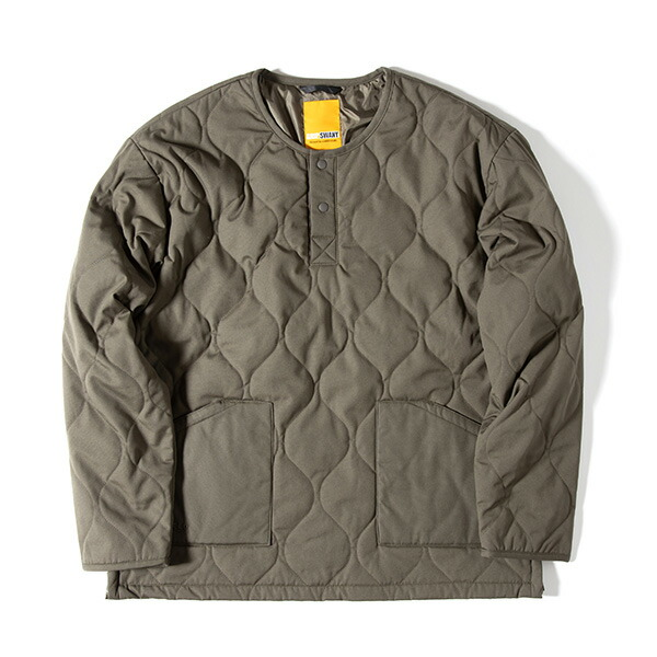 Grip Swany グリップスワニー Fireproof Quilt Pullover Olive