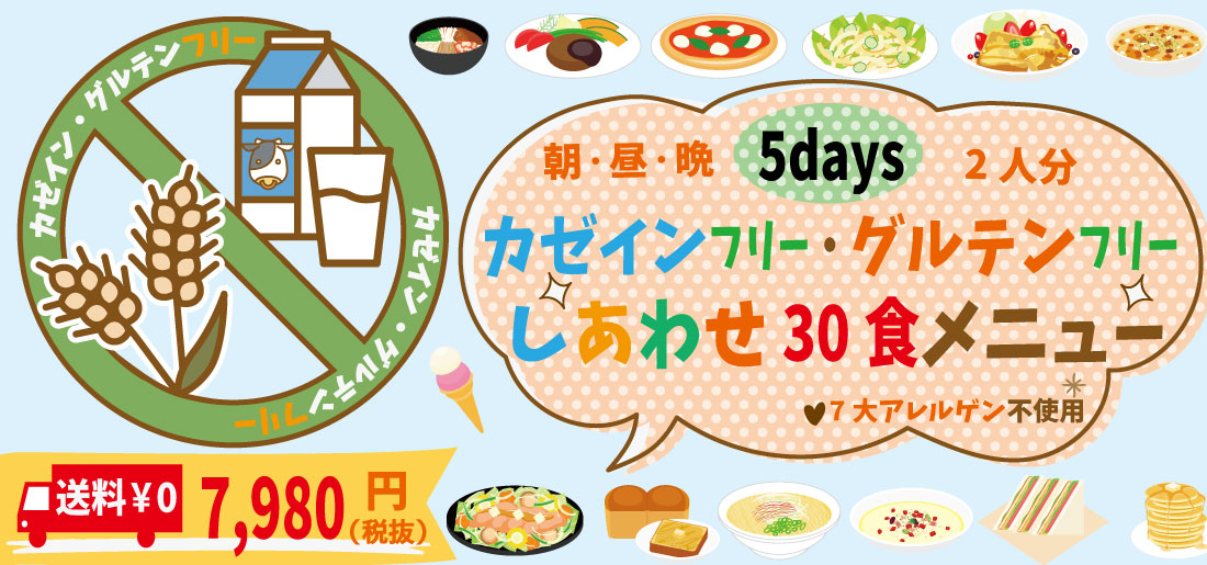 【送料0円】15食×2人分!グルテンフリー・カゼインフリー5日間セット